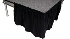 """Image of a Black Stage Skirts , 60"""" x 16'"""