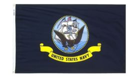 Image of a 3' x 5' United States Navy Flags