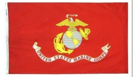 Image of a 3' x 5' United States Marines Flags