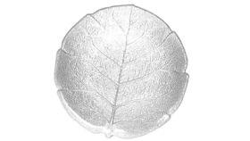 Image of a Glass Leaf Salad Plate