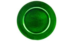 Image of a Emerald Lacquer Charger - Plain