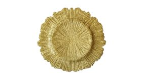 Image of a Gold Glass Charger - Reef