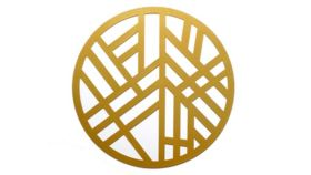 Image of a Gold Geomod Die-Cut Charger