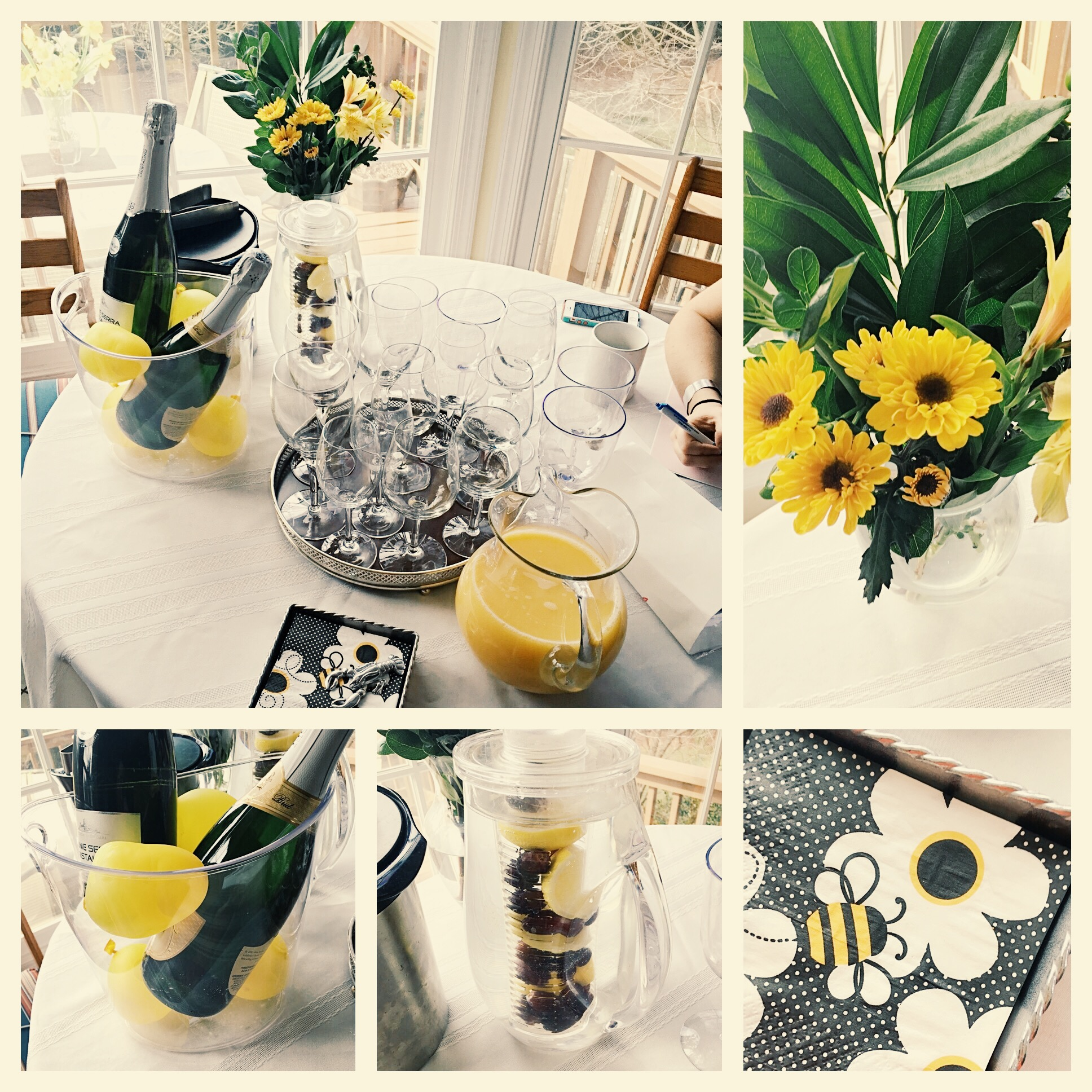 bee theme bridal shower drinks