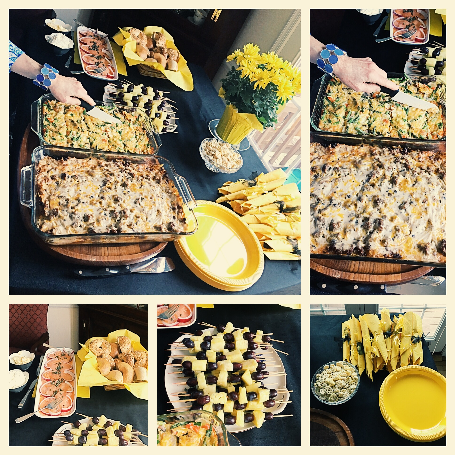 bee theme bridal shower food