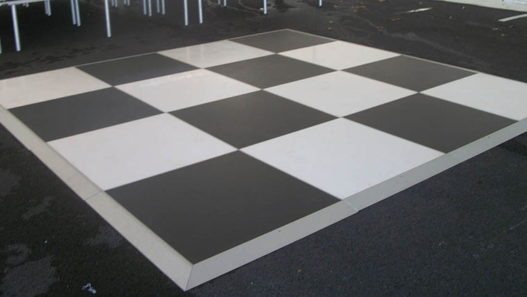 checkered dance floor hollywood theme party