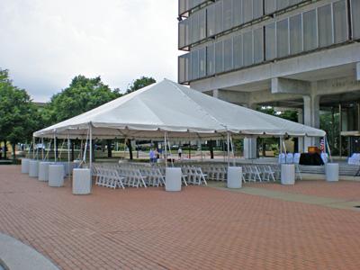 water barrels tent rentals
