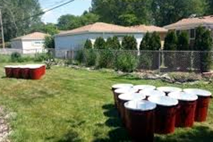 backyard bbq ideas. giant beer pong. https://blog.goodshuffle.com
