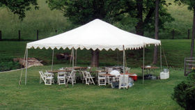 Rent a tent for an outdoor summer event