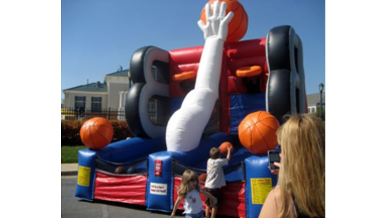 Bounce House. Moon Bounce. Basketball. Boy's Birthday Party. https://www.goodshuffle.com