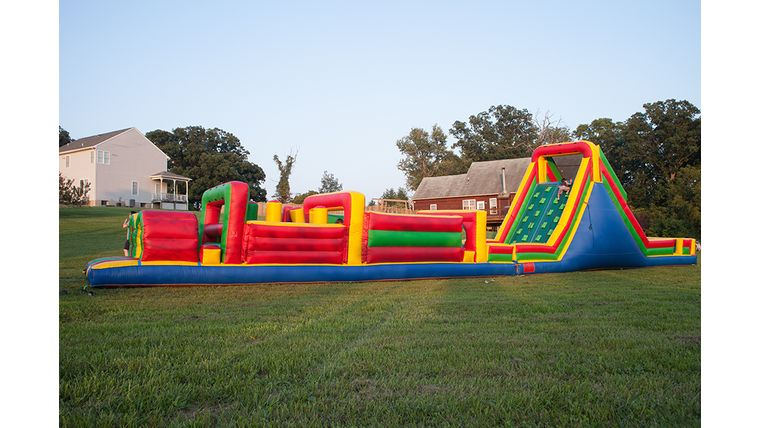 Bounce House. Moon Bounce. Inflatable Obstacle Course Rental. Large Party ideas. https://www.goodshuffle.com