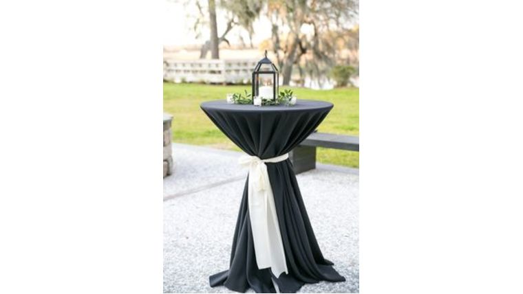 renting cocktail tables. event rentals. tablecloth styles. goodshuffle.com
