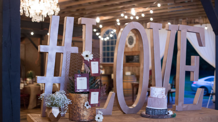 event rentals. wedding hashtags. personalized wedding rentals. goodshuffle