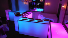 glow bar. unique event rentals. Goodshuffle.com. fun wedding rentals.