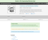 The Programming Historian 2: Code Reuse and Modularity