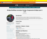 Bridge Building Concepts and Design: Suspension Bridges  3 of 4