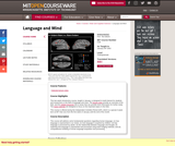 Language and Mind, January (IAP) 2003