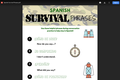 Spanish Survival Phrases Sheet for Students