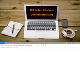 APA In-Text Citations: General Formatting