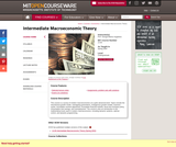 Intermediate Macroeconomic Theory, Spring 2004