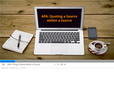 APA: Quoting a Source within a Source
