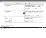 Arithmetic Operators and Numeric Procedures review