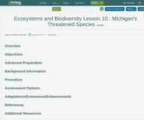 Ecosystems and Biodiversity Lesson 10 : Michigan's Threatened Species