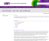2nd Grade-Act. 03: Just a Minute