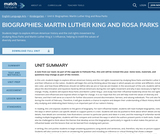 Biographies: Martin Luther King and Rosa Parks
