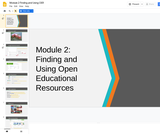 #GoOpen Module 2 - Finding and Using Open Educational Resources