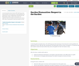 Garden Humanities: Respect in the Garden