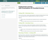 Professional Learning - OER Presentations for Pennfield Schools