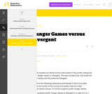 6.RP, 6.RP Hunger Games versus Divergent