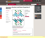Symmetry, Structure, and Tensor Properties of Materials, Fall 2005