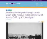 Automobile helped through sandy wash onto mesa, 7 miles northwest of Yuma, Calif. by A. L. Westgard