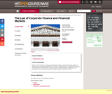 The Law of Corporate Finance and Financial Markets, Spring 2004