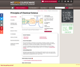 Principles of Chemical Science, Fall 2008