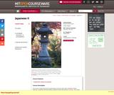 Beginning Japanese II, Spring 2013