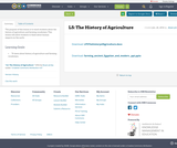 L5: The History of Agriculture