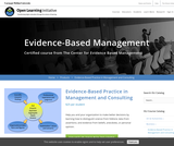 Evidence-Based Practice In Management And Consulting