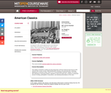American Classics, Spring 2006
