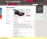 Defense Politics, Spring 2006