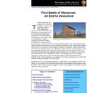 First Battle of Manassas: An End to Innocence