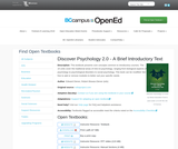 Discover Psychology 2.0 - A Brief Introductory Text