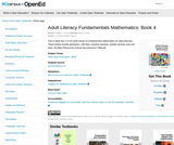 Adult Literacy Fundamentals Mathematics: Book 4