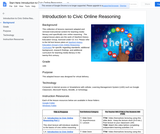 Introduction to Civic Online Reasoning for Distance Learning