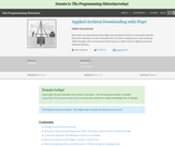 The Programming Historian 2: Applied Archival Downloading with Wget
