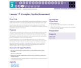 CS Discoveries 2019-2020: Interactive Animations and Games Lesson 3.17: Complex Sprite Movement