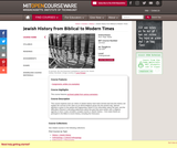 Jewish History from Biblical to Modern Times, Fall 2007
