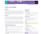 CS Discoveries 2019-2020: Problem Solving Lesson 1.6: Processing